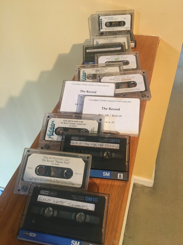 casettes lined up 2